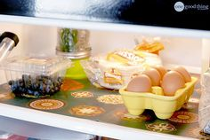 Make Your Own Inexpensive and Easy-to-Clean Fridge Liners OneGoodThingbyJillee.com