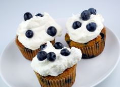 Blueberries and Cream Cupcakes Recipe | Elana's Pantry