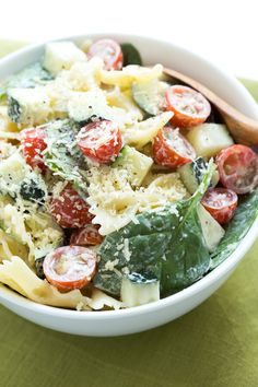 White Cheddar Pasta Salad is made with only six ingredients and comes together in little time! The pasta salad is a great addition to any spring or summer meal.: