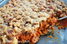 This looks delicious, love a bit of sweet potato :) (credit: http://ameessavorydish.com/sweet-potato-casserole-gluten-free/)