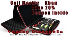 July 1, 2015 Coil Master KBag  Coil Master has just released one of the best vape bags I have seen in a very long time, if ever. The new Coil Master Kbag is a rugged case for all of your vape gear. Keep your eliquid, ecigarette mods, atomizers and wicking supplies in one place. …