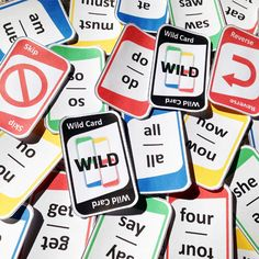 "These sight word game cards are perfect for practicing PreK, Kindergarten and first grade sight words. This game plays like the popular game, ""UNO""!"