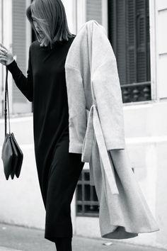 Black and white#streetstyle# sleek