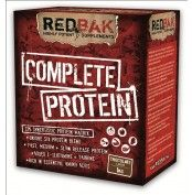 Redbak Complete Protein 1kg  Redbak COMPLETE PROTEIN is a unique blend of Whey Protein Isolate (WPI),Whey Protein Concentrate (WPC), Calcium Caseinate, Milk Protein Concentrate and Digestive Enzymes.  This synergistic, anti catabolic blend of proteins provides an immediate and sustained release of amino acids into the body, ensuring a positive nitrogen balance and anabolic state for hours.   For more info visit: http://www.gymandfitness.com.au/redbak-complete-protein-1kg.html