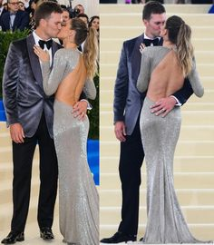 Gisele Bundchen and Tom Brady looking loved up at the 2017 Met Gala