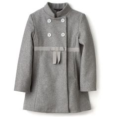 """Little Marc Jacobs Girls' """"Jarita"""" Coat ($121) ❤ liked on Polyvore featuring babies and baby girl"""