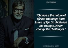 15 Quotes By Amitabh Bachchan That Prove He Is The 'Shahenshah' Of Bollywood Amitabh Bachchan Quotes, Real Quotes, Life Quotes, Challenge Images, Quotations, Qoutes, Kabir Quotes, Good Morning Inspiration, Motivational Quotes