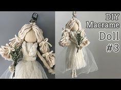 DIY Macrame Doll For Wedding / 마크라메 인형 - bridalshower Macrame Art, Macrame Projects, Micro Macrame, Doll Crafts, Diy Doll, Yarn Dolls, Wedding Doll, Macrame Patterns, Fashion Sewing