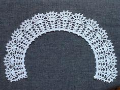 レース編み*つけ襟(綿麻素材)の画像3枚目