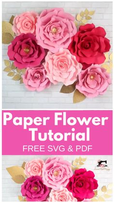 Best 12 Learn How to Create Stunning Oversized Paper Flowers from Cardstock Using FREE SVG Files. Cut them by hand or with a Smart Cutting Machine. I'll teach you everything from creating a flower center to making a sturdy base to hang the flowers from. Paper Flowers Craft, How To Make Paper Flowers, Large Paper Flowers, Paper Flower Backdrop, Giant Paper Flowers, Flower Crafts, Diy Flowers, Fabric Flowers, Diy Cardstock Flowers