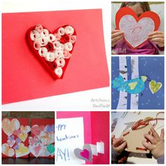14 Valentine's Day Cards for Kids to Make. Lots of super cute ideas here!
