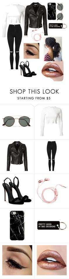 """""""Badass"""" by baddie-heart ❤ liked on Polyvore featuring Ray-Ban, Rosetta Getty, IRO, Topshop, Giuseppe Zanotti, Recover and Various Projects"""