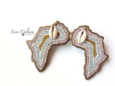 Stud Earrings Multicolor Ethnic Africa by LuceCultura on Etsy, €20.00