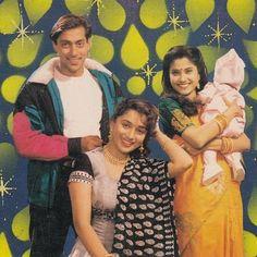 Best movie old memories throwback! Vintage Bollywood, Indian Bollywood, Hum Aapke Hain Koun, Salman Katrina, Kiran Rathod, Film Icon, Ayeza Khan, Madhuri Dixit, Handsome Actors
