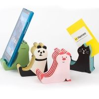 데꼴 시마시마 스마트폰 스탠드 (4종) ※ 일본 DECOLE 폰 홀더, 거치대, 메모 꽂이,고양이