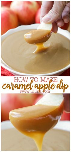 caramel apples The creamiest and most delicious Caramel Apple Dip you'll ever find. Just a few ingredients are required, but dark brown sugar and sweetened condensed milk make this recipe out of this world and a crowd pleaser at any get together. Carmel Sauce For Apples, Carmel Sauce Recipe, Carmel Apple Dip, Caramel Apple Sauce, Homemade Caramel Sauce, Caramel Recipes, Apple Recipes, Caramel Apples, Caramel Sauce Condensed Milk