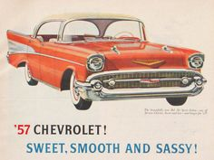 1957 Chevy Magazine Advertisement by TheVintageResource on Etsy