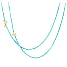 DY Bel Aire Chain Necklace in Turquoise Color with 14K Gold Accents