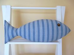 Nautical Pillow  Coastal Decor  Fish Pillow  by CatherinePicone, $21.00