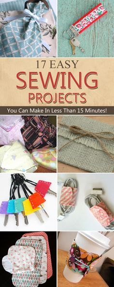17 Easy Sewing Projects You Can Make In Less Than 15 Minutes
