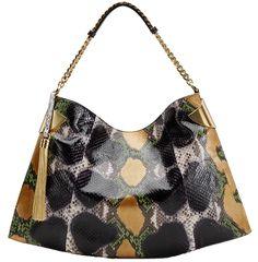 Gucci Black and Orange 1970 Shoulder Bag