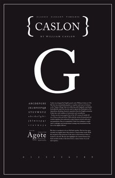 """Caslon Typography Poster - Shannon Edgar (my teacher always said: """"If in doubt: Set it in Caslon. Typo Poster, Poster Fonts, Typographic Poster, Typographic Design, Typography Layout, Typography Letters, Graphic Design Typography, Japanese Typography, Design Poster"""