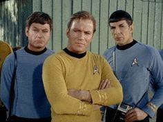Discover & share this Star Trek GIF with everyone you know. GIPHY is how you search, share, discover, and create GIFs. Star Trek Theme, Star Wars, Star Trek Tos, Leonard Mccoy, James T Kirk, Spock And Kirk, This Side Of Paradise, Enterprise Ncc 1701, Star Trek Original Series