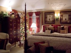 My Master bedroom at Christmas
