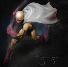Saitama, One Punch man, Saitama OPM Fan art, Rosh Patricio on ArtStation at https://www.artstation.com/artwork/2kKJx