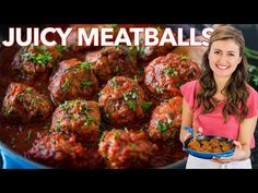 Juicy MEATBALL RECIPE - How to Cook Italian Meatballs - Juicy homemade meatballs are make-ahead, freezer friendly, and perfect for meal prep. Juicy Meatball Recipe, Meatball Recipes, Beef Recipes, Cooking Recipes, Easy Italian Meatballs, How To Cook Meatballs, Healthy Meatballs, Beef Dishes, Pasta Dishes