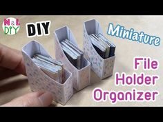 DIY Miniature File Holder Organizer for Dollhouse | How to make Miniature File Holder Organizer - YouTube