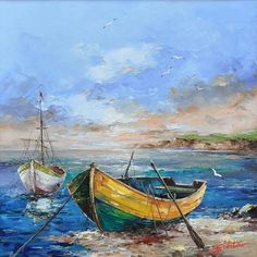 Landscaping watercolor boat Ideas for 2020 Seascape Paintings, Landscape Paintings, Pinterest Pinturas, Boat Drawing, Boat Art, Boat Painting, Painting Techniques, Painting Inspiration, Watercolor Paintings