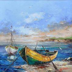Landscaping watercolor boat Ideas for 2020 Landscape Art, Landscape Paintings, Pinterest Pinturas, Boat Drawing, Boat Art, Boat Painting, Seascape Paintings, Painting Techniques, Art Oil