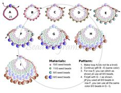 FREE Pattern for PEYOTE FAN Earrings. Modified from Linda's Crafty Inspirations pattern. Page 2 of 2