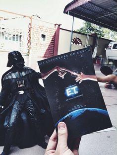 """ET, Balik Kampung."" (ET, go home) The #SciFi Mashup piece. #ET #DarthVader #StarWars #extraterrestrial #balikkampung - by @jaemyC"