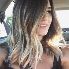 Grunge Baliage sun kissed beach haircut/ hairstyle