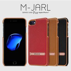 Nillkin M-Jarl Series Case for Apple iphone 7 Metal Support Leather Case for iphone 7 plus Case with Stand Holder Back Cover