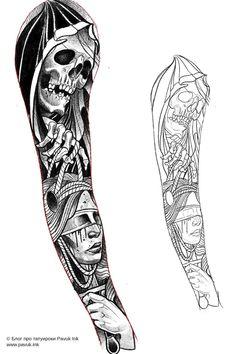 Tattoo Design Drawings, Sketch Tattoo, Tattoo Sleeve Designs, Tattoo Art, Arm Tattoo, Sleeve Tattoos, Tattoo Stencils, Neo Traditional, Chicano