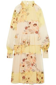 See by Chloé | Tiered floral-print georgette dress | NET-A-PORTER.COM