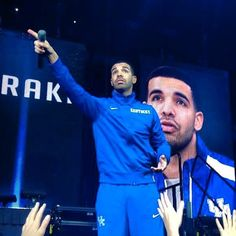 Drake Attends Kentucky's Big Blue Madness