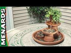 Great step by step terra cota water fountain,, i am so making this for my deck maybe paint the pots and make it a little bigger