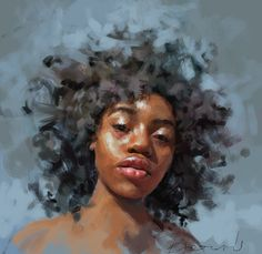 The Superb Female Portrait Paintings By Ivana Besevic – Madison LaHarvest – Art Digital Painting Portrait, Oil Portrait, Female Portrait, Female Art, Portrait Paintings, Art Paintings, Arte Black, Figurative Kunst, Inspiration Art