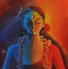 Ardhanarishwar Painting - Shiva and Shakti