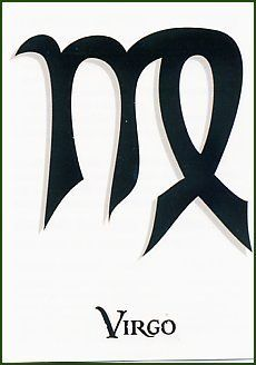 """Virgo Temporaray Tattoo by Tattoo Fun. $3.95. This temporary tattoo is the zodiac symbol for Virgo. It is black in color and measures approx 2"""" x 3"""""""