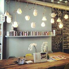 Tea kancsó fények teázóba, kávézóba, vidéki konyhába | Tea jug lighting for a tea shop, coffee bar or for a countryside kitchen