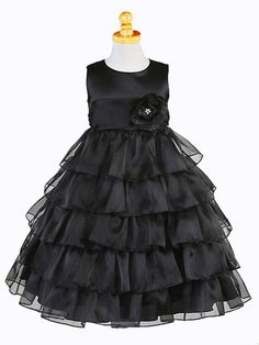 Black flower girl dress not sure if the color but this is a cute dress!!!!