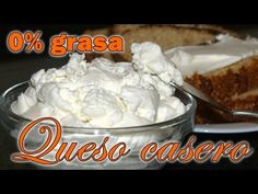 Queso casero Dukan 0% grasa - Fase Ataque - home made cheese 0% fat - YouTube Yogurt, Meringue Pavlova, Cooking Recipes, Ice Cream, Pudding, Cheese, Homemade, Breakfast, Desserts