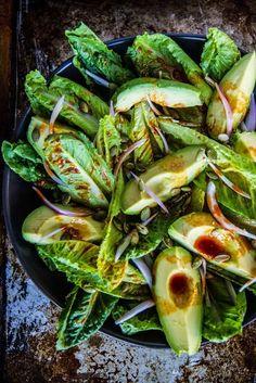 Romaine and Avocado Salad Smoky romaine and avocado salad.Smoky romaine and avocado salad. Allergy Free Recipes, Vegetarian Recipes, Healthy Recipes, Diet Recipes, Avocado Recipes, Salad Recipes, Party Recipes, Healthy Salads, Healthy Eating