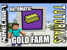 Minecraft PS4 - AUTOMATIC GOLD FARM - How To - Tutorial ( PS3 / XBOX ) WII - YouTube