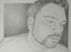 A pencil self portrait.  By Christopher Clark.
